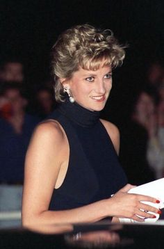 Lady Diana out at a function.