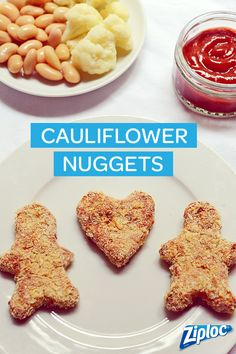 Cauliflower Nuggets. A healthy and tasty vegetarian recipe your kids will love. Serve for lunch or dinner!