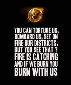 Probably my favorite Hunger Games quote.
