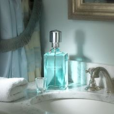 Keep mouthwash handy and counter spaces clear of unsightly bottles with this handsome glass decanter. Mouthwash Dispenser, Dental, Bathroom Spa, Bathroom Ideas, Bathroom Makeovers, Bathroom Cleaning, Basement Bathroom, Bathroom Organization, Bath Ideas