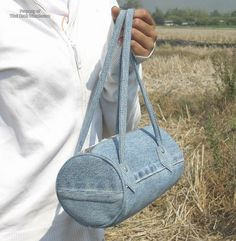 Thai Craft Warehouse - Ladies Pure Denim Tube Handbag made from Recycled Jeans