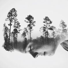 Fascinating double exposure portraits and photo manipulations by Brandon Kidwell.