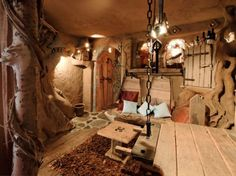 A cozy gnome-like Bed & Breakfast in Belgium called La Balade Des Gnomes,