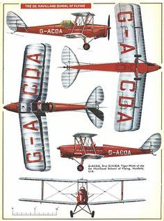 De Havilland Tiger Moth Page Plane Crafts, Chart Infographic, Tiger Moth, Aircraft Photos, Air Ride, Vintage Airplanes, Aviation Art, Kit Planes, Cutaway