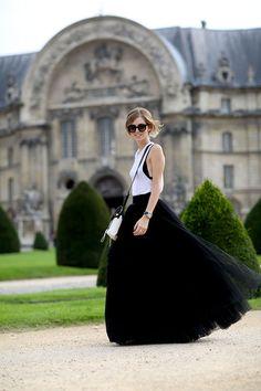 ALBERTA FERRETTI Black Tulle skirt