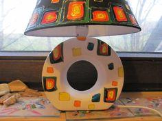 Lampen & Kerzen - Lampe schwarz/bunt  - ein Designerstück von BRI-Anderswelt bei DaWanda Bunt, Designer, Table Lamp, Etsy, Home Decor, Candles, Black, Table Lamps, Decoration Home