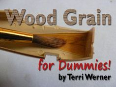 AeroScale :: Wood Grain For Dummies! by Terri Werner Modeling Techniques, Modeling Tips, Paint Techniques, Revell Model Cars, Model Maker, Polymer Clay Figures, Model Hobbies, Military Modelling, Military Diorama