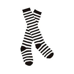 Wicked Witch Black and White Striped Socks ($8.99) found on Polyvore