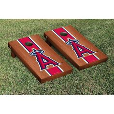 Los Angeles Angels of Anaheim Rosewood Cornhole Game - $249.99