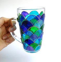 Mermaid Coffee Mug Hand Painted Coffee Mug Mermaid by ArtMasha