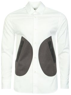 COMME DES GARCONS GANRYU Panelled Formal Tailored Shirt White £250.00 51e130a6618