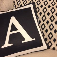 Our reversible monogram cushions styled fabulously by @saltbox_design   Monogram Living