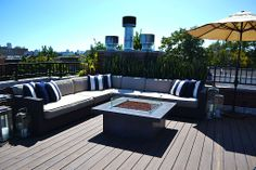 The style of the rooftop deck will depend mainly on your personal ...
