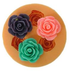 3-cavity Rose Polymer Clay Resin Mold Soap Mould Silicon Mold Candle Mold on Etsy, $3.99