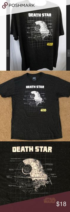 Star Wars Death Star marbled t shirt XL NWOT Brand new without tags. My husband tried it on and doesn't fit. His loss your gain!  95% cotton 5% rayon Fifth Sun Shirts Tees - Short Sleeve