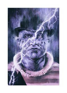 Artist Reimagines Freddy Krueger as Expressionist Paintings - Popcorn Horror Horror Icons, Nightmare On Elm Street, Freddy Krueger, Character Portraits, Scene, Scary Stuff, Art Prints, Abstract, Popcorn