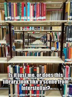 my library looks like intersteller