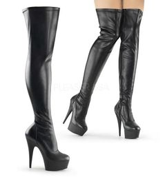 50e80a78753 DELIGHT-3000 Thigh High Boot by Pleaser Shoes. FREE Shipping