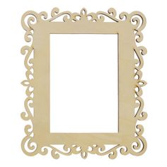 <div>This item is sold individually in store.<br><br>The Delicate Pattern Laser Cut Wood Frame b...