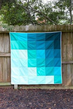 Ombre Layer Cake Baby Quilt | Baby quilts don't get easier or more stunning than this ombre baby quilt!