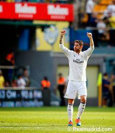 Sergio Ramos en el partido Villarreal 0 -  2 Real Madrid #RealMadrid #HalaMadrid #HalaMadridYNadaMas