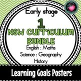 NSW CURRIC EARLY STAGE 1 LEARNING GOALS ENGLISH MATHS SCIE