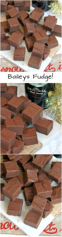 Baileys Fudge!! Easy Five Ingredient Baileys Fudge – perfect for Christmas!