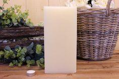 Κεριά μασίφ τετράγωνα σε χρώμα εκρού ΤΧ1530ΧΕΚ. Πλευρά: 15εκ. Ύψος: 30εκ. Pillar Candles, Taper Candles