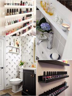 #small&lowcost - Curiosos estantes para el aseo   Decorar tu casa es facilisimo.com