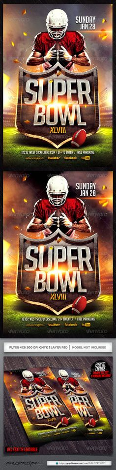Superbowl Football Flyer Template