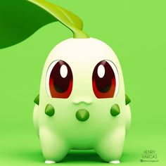 """Chikorita I'm in the mood for some Johto pokémon lately. Play Pokemon, New Pokemon, Pokemon Cards, Deadpool Pikachu, Pokemon Poster, Cute Pokemon Pictures, Cute Pokemon Wallpaper, Indian Art Paintings, Anime Comics"