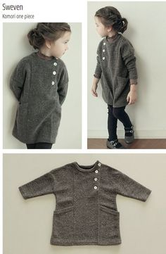 Moda infantil coreana con Mint and persimmon Korean children's fashion with Mint and Persimmon www. Knitting For Kids, Sewing For Kids, Baby Knitting, Fashion Kids, Sweater Fashion, Dress Fashion, Baby Sweaters, Kind Mode, Pulls