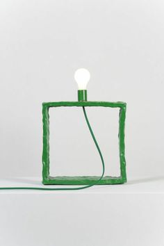 Katie Stout & Sean Gerstley . green square lamp, 2013