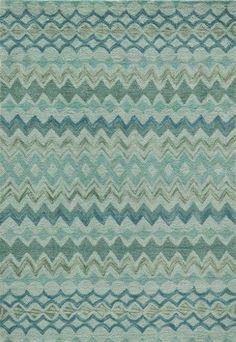 Momeni Rugs Contemporary Area Rug RIO Collection RIO-1 Teal 3'6'x5'6', Green