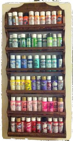 use a spice rack to sort craft paint!!  I found mine at this store on ETSY... http://www.etsy.com/people/jim7221us