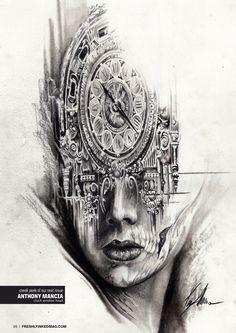 Art by Anthony Mancia  #InkedMagazine  #art #sketch #drawing #stream