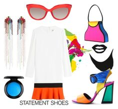 """""""Neon"""" by clori86 on Polyvore featuring Brewster Home Fashions, Kat Maconie, Emilio Pucci, Mimi Wade, MAC Cosmetics, neon, shoes and statement"""