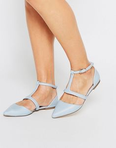 Image 1 of ASOS LETTY Pointed Ballet Flats