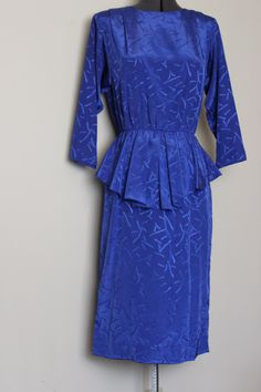 1/2 OFF SALE!!!!  Vintage Mother of Bride Royal Blue Dress     Size 9-10 by SmallTownGirlVintage on Etsy