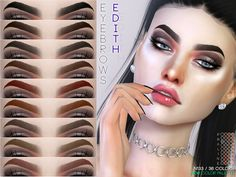 The Sims 4 Edith Eyebrows - Makeup Techniques Sims Free Play, Play Sims, Los Sims 4 Mods, Sims 4 Game Mods, Les Sims 4 Pc, Sims Cc, The Sims 4 Skin, The Sims 4 Cabelos, Sims 4 Mods Clothes
