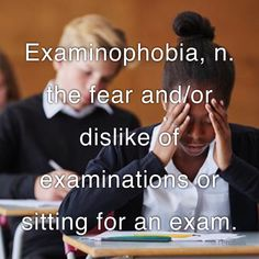 the fear and/or dislike of examinations or sitting for an exam. Types Of Phobias, List Of Phobias, Dark Words, Cool Words, Phobia Words, Quotes Related To Life, Negativity Quotes, Dream Dictionary, Unusual Words