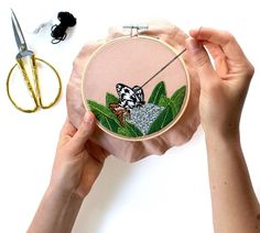 Modern Embroidery Pattern to Download by Sarah K. Benning