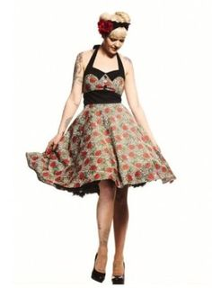 Amazon.com: Hell Bunny Plus Size Rockabilly Charlie Dress in Leopard and Red Rose Print Party Dress (XX-Large): Clothing