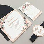 Artisan Botanical Free Printable Wedding Invitation