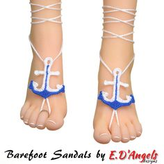 Crochet PATTERN Barefoot Sandals ANCHOR. This listing is for a PDF digital file PATTERN only. This is NOT a FINISHED item. If you are interested in a finished item of this pattern you can make a custom order or visit the shop section Finished Items: