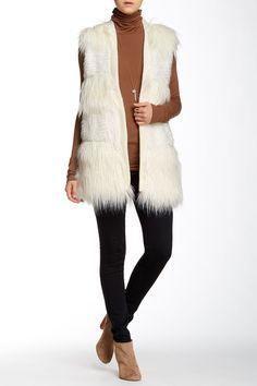 Faux Fur Vest by Via Spiga on @nordstrom_rack