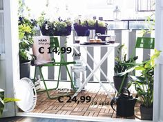 38 The Best Ideas of Wooden Floor Design on Balcony for your Apartment that is Very Inspiring Decoration # Ikea Outdoor, Outdoor Rooms, Outdoor Living, Outdoor Furniture Sets, Ikea Patio, Ikea Table, Simple Furniture, Ikea Furniture, Outdoor Fabric