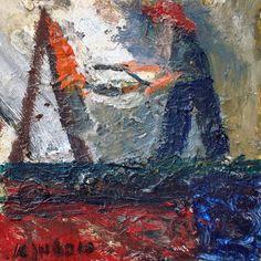 artist in his studio Amnon hoftman israeli painter