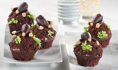 Muffins mit Marzipanmaulwurf