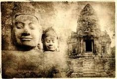 From the 800's to the 1400's, the Khmer controlled a great Hindu-Buddhist kingdom in Cambodia. The Khmer built hundreds of beautiful stone temples at Angkor (the capital) and elsewhere in the empire. The Khmer empire reached its peak during the 1100's, when it took over much of the land that is now Laos, Thailand, and Vietnam